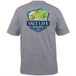Salt Life Mens Mahi Brew Heathered Pocket T-Shirt