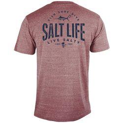 Salt Life Mens Marlin Hook Badge Tri-Blend T-shirt
