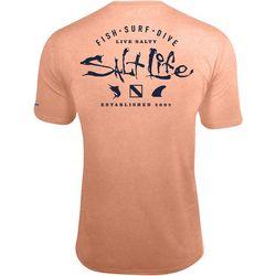 Salt Life Mens SLX Waterman Performance Short Sleeve T-Shirt