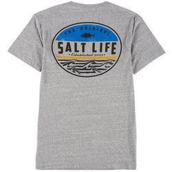 Salt Life Mens Finz Badge Heathered T-Shirt