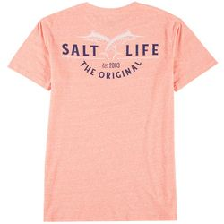 Salt Life Mens Leaping Marlin Heathered T-Shirt