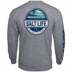 Mens A Salty State of Mind Heathered T-Shirt