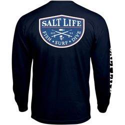 Salt Life Mens Spearfish Badge Long Sleeve T-Shirt
