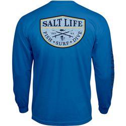 Salt Life Mens Spearfish Badge Long Sleeve T-Shirt