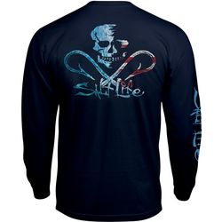 Salt Life Mens Ameriskull Long Sleeve T-Shirt