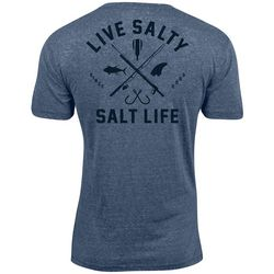 Salt Life Mens Modern Water Heathered T-Shirt