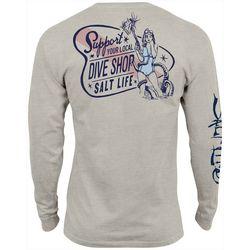 Salt Life Mens Dive Shop Long Sleeve T-Shirt