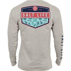 Salt Life Mens Island Breeze Badge Long Sleeve T-Shirt