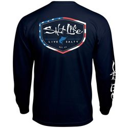 Salt Life Mens Americana Shield Long Sleeve T-Shirt
