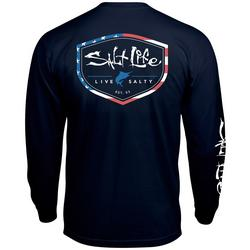 Mens Americana Shield Long Sleeve T-Shirt