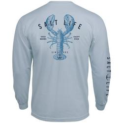Mens Long Sleeve Lobster T-Shirt