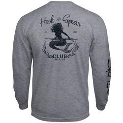 Mens Hook & Spear Mermaid Long Sleeve T-Shirt