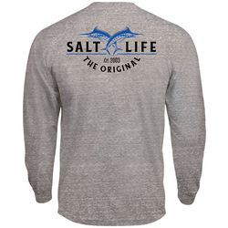 Salt Life Mens Tri-Blend Marlin Long Sleeve T-Shirt