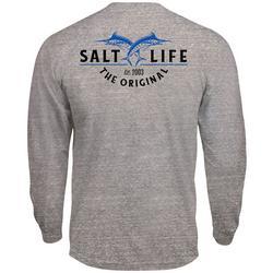Mens Tri-Blend Marlin Long Sleeve T-Shirt
