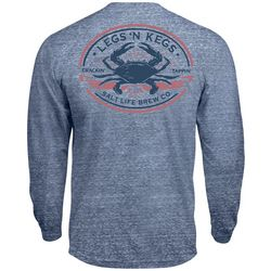 Salt Life Mens Tri-Blend Legs And Kegs Long Sleeve T-Shirt