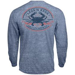 Mens Tri-Blend Legs And Kegs Long Sleeve T-Shirt