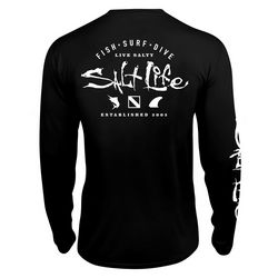 Salt Life Mens Watermans Trifecta SLX UVapor Crew T-Shirt