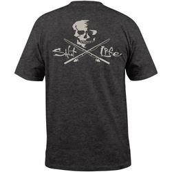 Mens Skulls & Poles Heathered T-Shirt