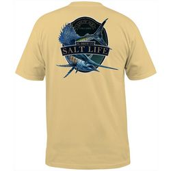 Salt Life Mens Sailfish Brew Heathered Short Sleeve T-Shirt