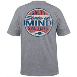Salt Life Mens Salty State Of Mind Heathered T-Shirt