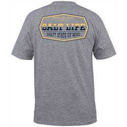 Mens Wavin' Heathered Short Sleeve T-Shirt