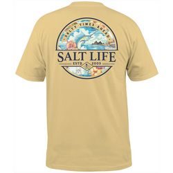 Mens Salty Times Ahead Short Sleeve T-Shirt