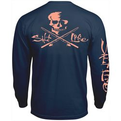 Salt Life Mens Skulls and Poles Long Sleeve T-Shirt