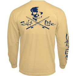 Salt Life Mens Skull & Poles Long Sleeve Pocket T-Shirt