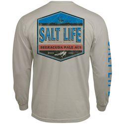 Salt Life Mens Barracuda Pale Ale Pocket Long Sleeve T-Shirt