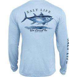 Salt Life Mens Get Lured In Performance Long Sleeve T-Shirt
