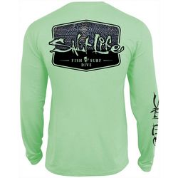 Salt Life Mens Metal Scales Performance Long Sleeve T-Shirt