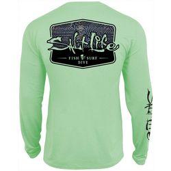 Mens Metal Scales Performance Long Sleeve T-Shirt