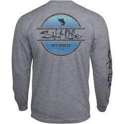 Salt Life Mens Marlin Get Hooked Heather Long Sleeve T-Shirt