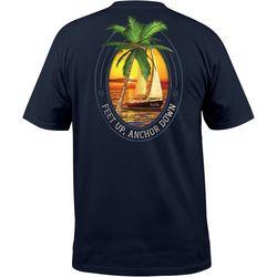 Mens Feet Up, Anchor Down Pocket T-Shirt