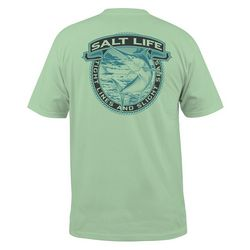 Salt Life Mens Tight Lines & Slight Seas Pocket T-Shirt