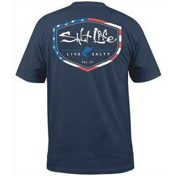 Mens Americana Shield Short Sleeve T-Shirt