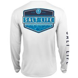 Salt Life Mens Calm Waters SLX UVapor T-Shirt