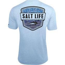 Salt Life Mens Water Skinz Badge SLX UVapor T-Shirt