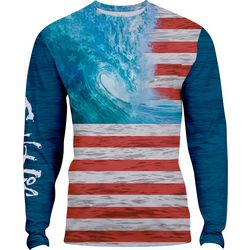 Salt Life Mens Ameriseas SLX Performance Long Sleeve T-Shirt