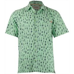 Salt Life Mens Buoys Woven Short Sleeve Shirt