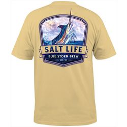 Mens Blue Storm Pocket T-Shirt