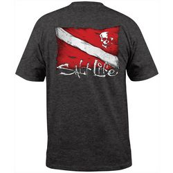 Salt Life Mens Heathered Dive Flag T-Shirt
