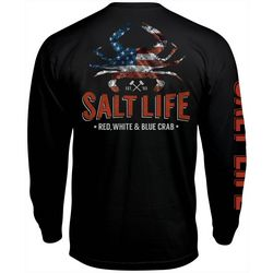 Salt Life Mens American Crab Long Sleeve T-Shirt
