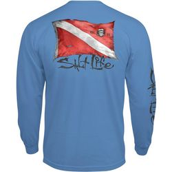 Salt Life Mens Weathered Dive Flag Long Sleeve T-Shirt