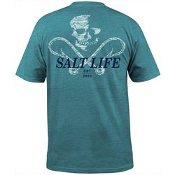 Salt Life Mens Static Hook Short Sleeve T-Shirt