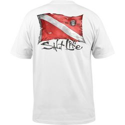 Salt Life Mens Weathered Dive Flag Short Sleeve T-Shirt