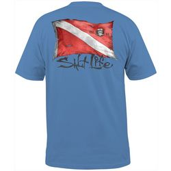 Salt Life Mens Weathered Dive Flag Short Sleeve T-Shirt