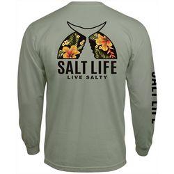 Salt Life Mens Tropical Tails Long Sleeve T-Shirt