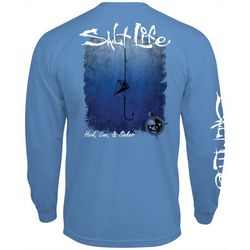 Salt Life Mens Hook, Line & Sinker Solid Long Sleeve T-Shirt