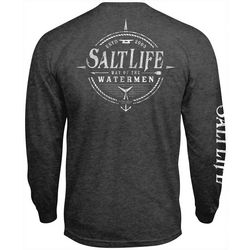 Salt Life Mens Watermen Way Heathered Long Sleeve T-Shirt